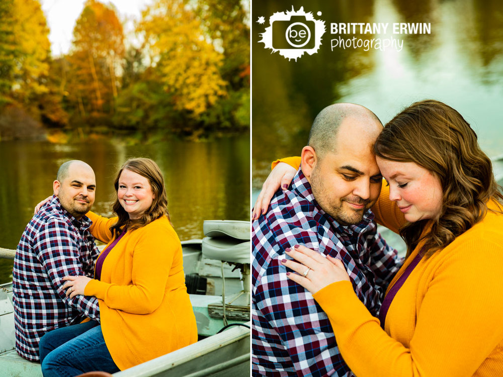 Camby-Indiana-engagement-portrait-photographer-couple-on-boat-fall-leaves-autumn.jpg