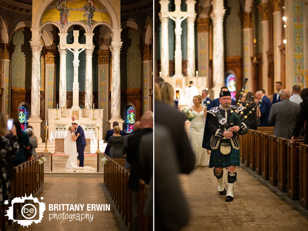 Catholic-wedding-ceremony-bagpipes-at-end-of-ceremony-first-kiss.jpg