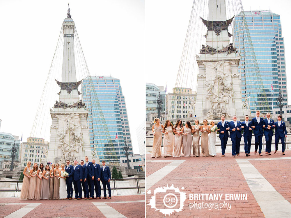 Downtown-Indianapolis-wedding-photographer-bridal-party-group-in-front-of-monument-circle.jpg
