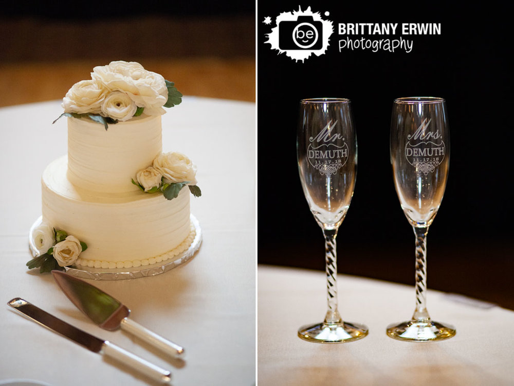 Indianapolis-wedding-reception-Classic-Cakes-flower-decoration-custom-etched-toasting-flutes.jpg