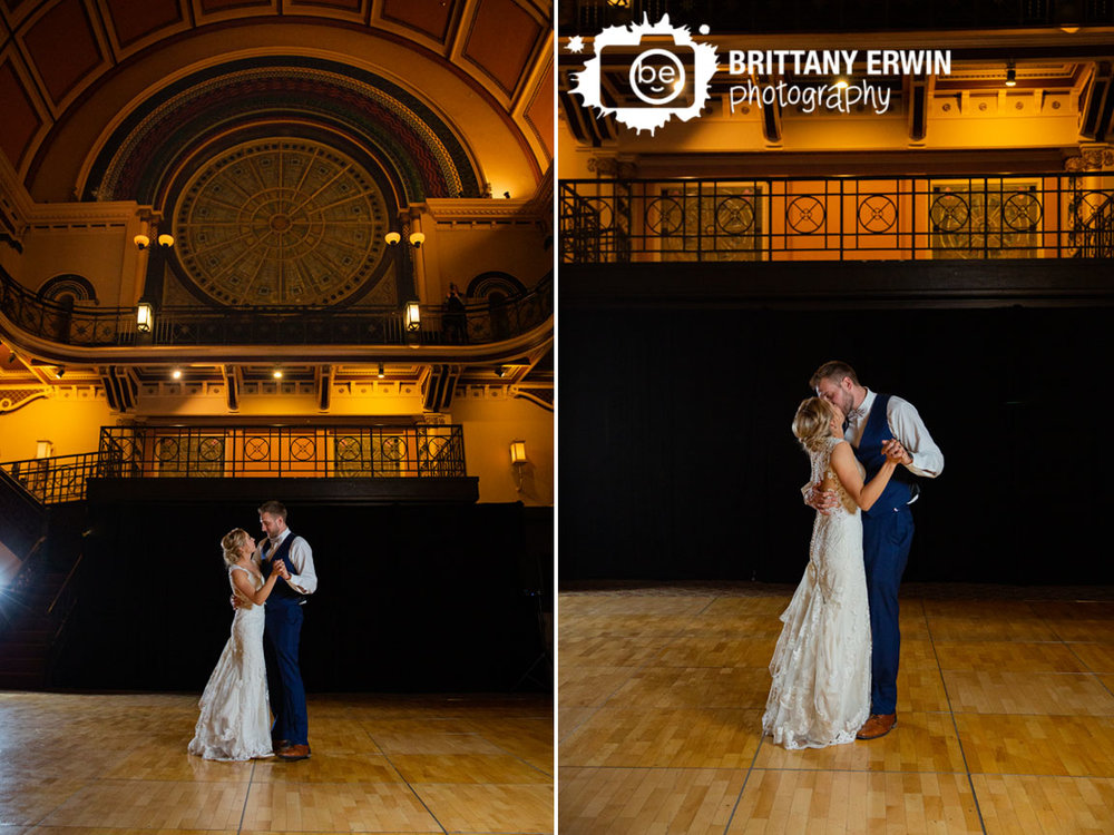 Indianapolis-Grand-Union-Station-wedding-photographer-first-dance-bride-groom-stained-glass-window-background.jpg
