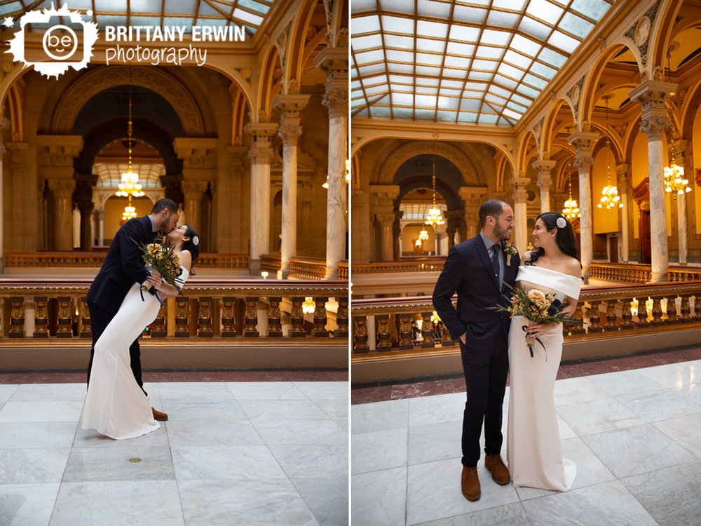 Indiana-State-House-elopement-photographer-couple-dip-and-kiss-balcony.jpg