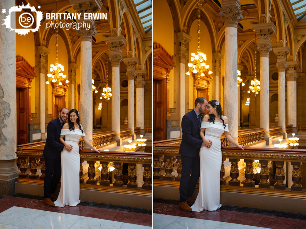 Indianapolis-elopement-photographer-couple-on-balcony-on-Indiana-State-Capitol-building.jpg