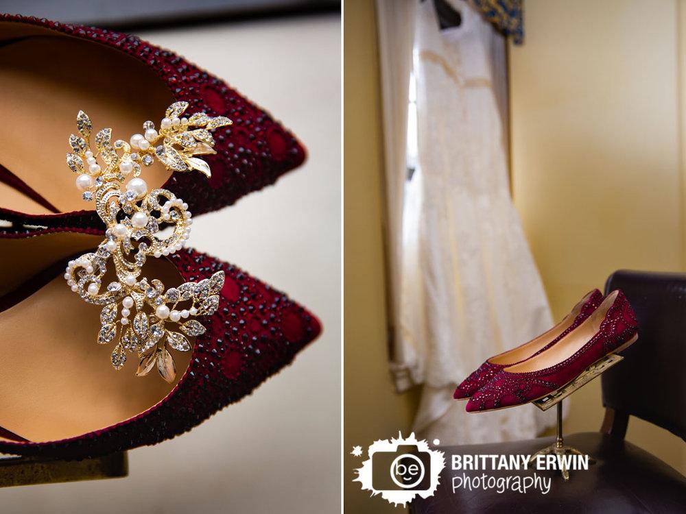 badgely-mitchka-red-shoes-wedding-details-bride-hair-piece-dress-in-window.jpg