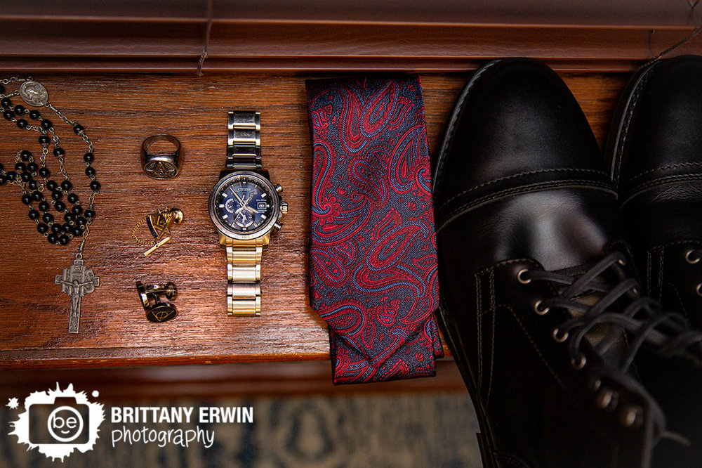 detail-photo-groom-harry-potter-cuff-links-paisley-tie-rosary-watch.jpg