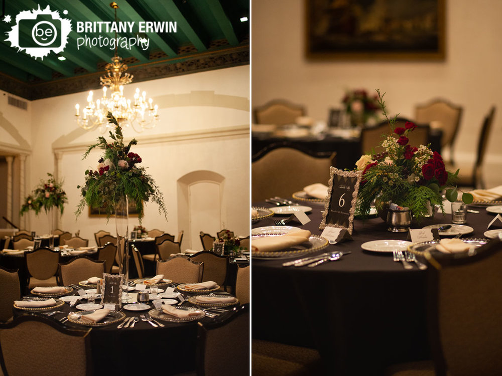 Indianapolis-reception-venue-columbia-club-glass-chargers-tall-floral-centerpiece.jpg