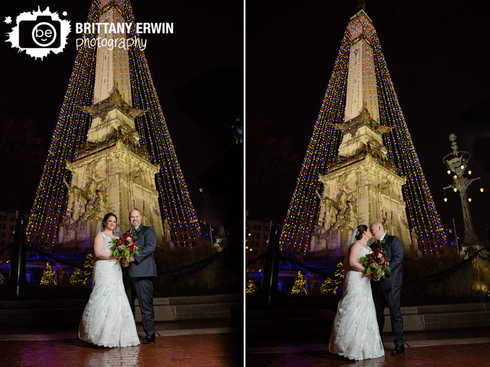 Downtown-Indianapolis-wedding-photographer-couple-on-monument-circle-of-lights-christmas-tree-bride-groom.jpg