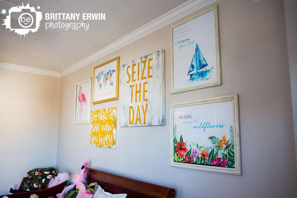 Indianapolis-lifestyle-newborn-art-above-crib-flamingo-seize-the-day.jpg