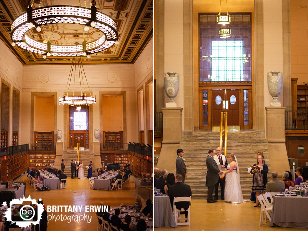 Indianapolis-central-library-wedding-ceremony-photographer-old-wing-couple-at-altar.jpg