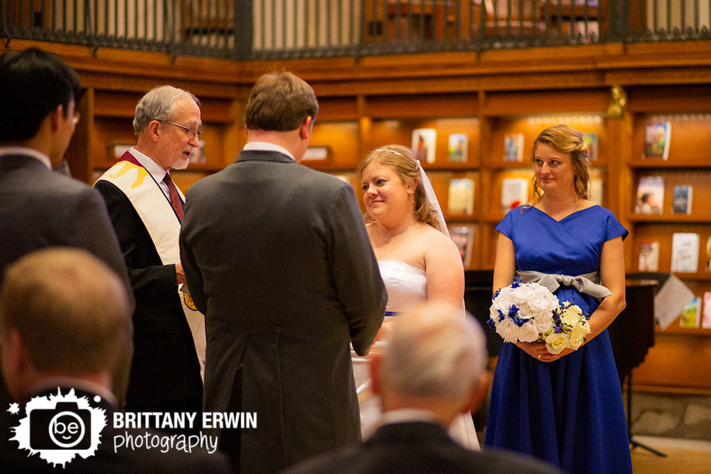 Indianapolis-wedding-photographer-central-library-bride-groom-at-altar-bottom-of-stairs-old-wing.jpg