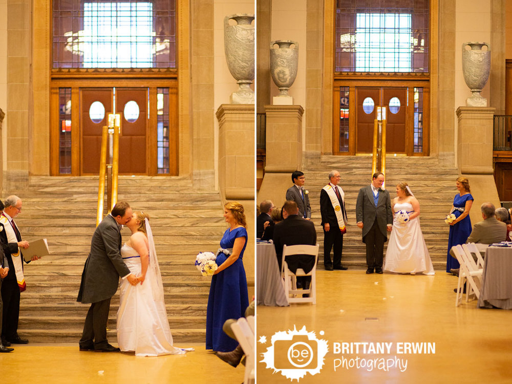 Indianapolis-wedding-photographer-ceremony-at-the-central-library-downtown-first-kiss.jpg