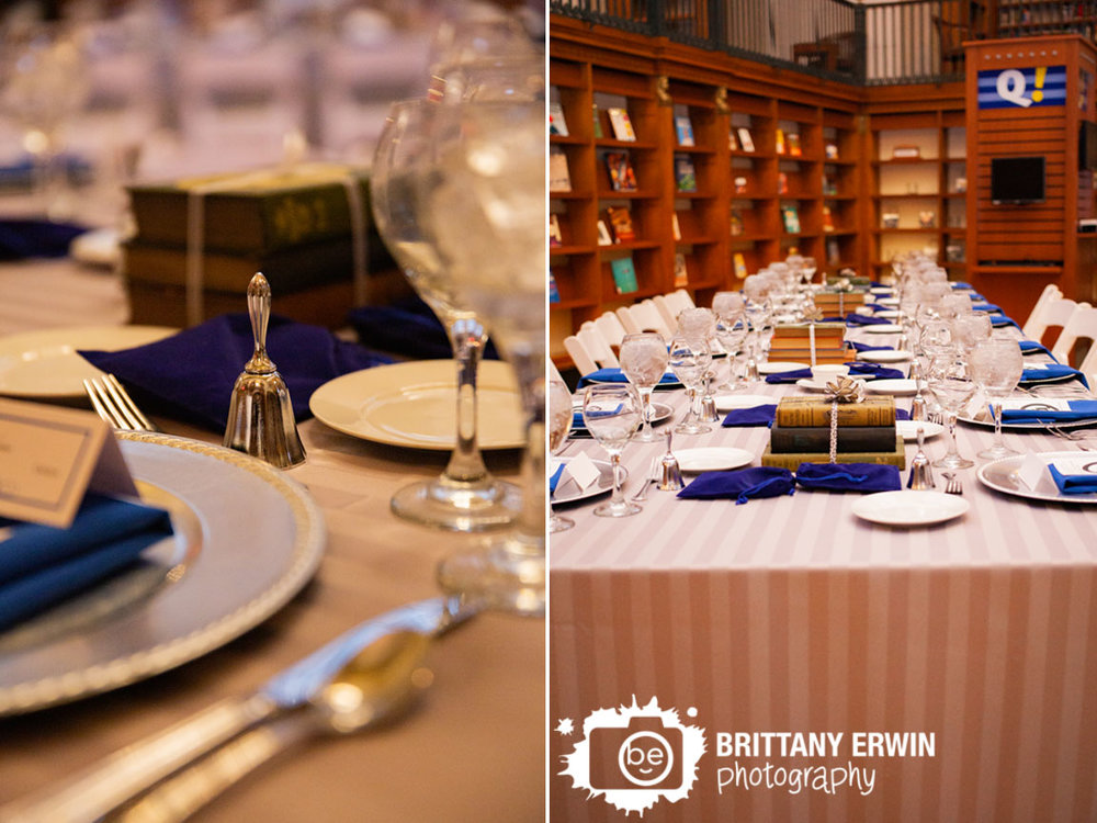 Indianapolis-wedding-photographer-central-library-bell-at-reception-table-book-centerpiece.jpg