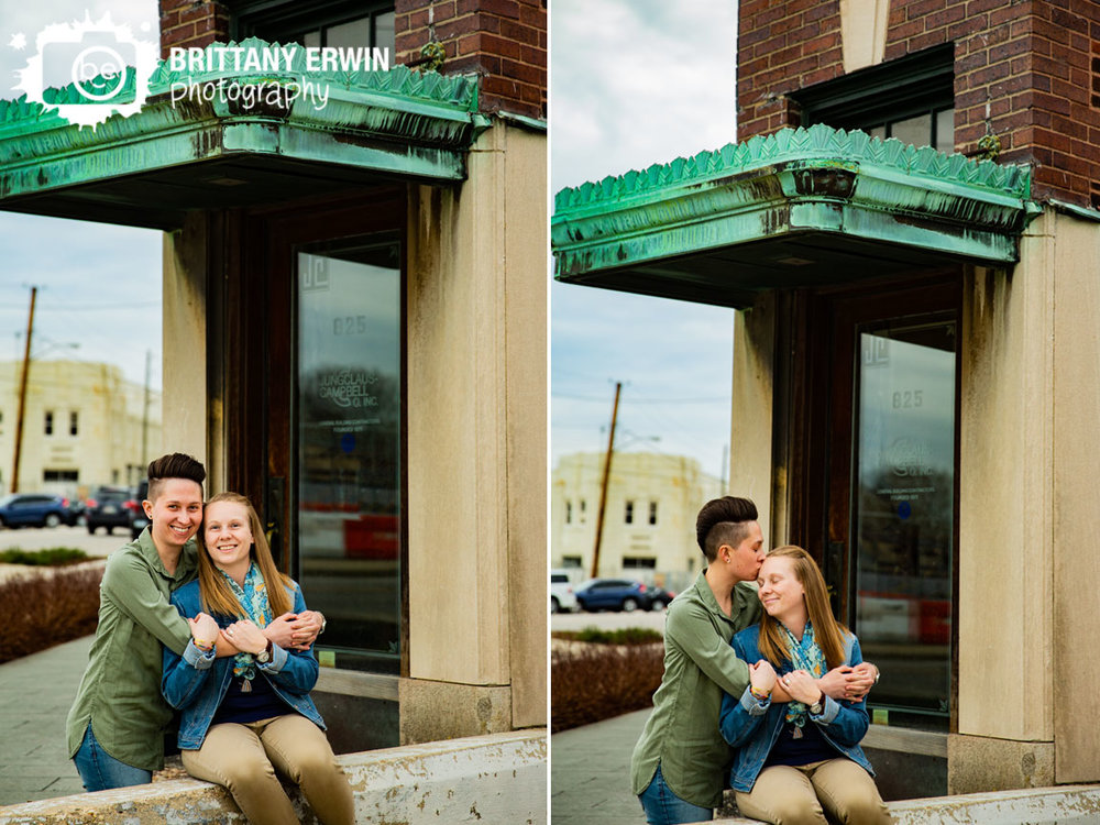 Indianapolis-engagement-portrait-photographer-antique-building-awning-oxidized-copper.jpg