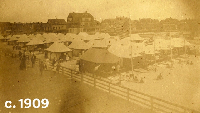 Beach 96th St. Summer 1909. Courtesy Stevie S. Stevens and rockawaymemories.com