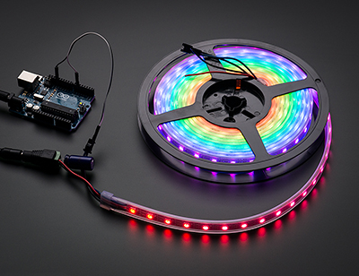 Adafruit NeoPixel Digital RGB LED Weatherproof Strip 60 LED from http://www.adafruit.com/products/1138