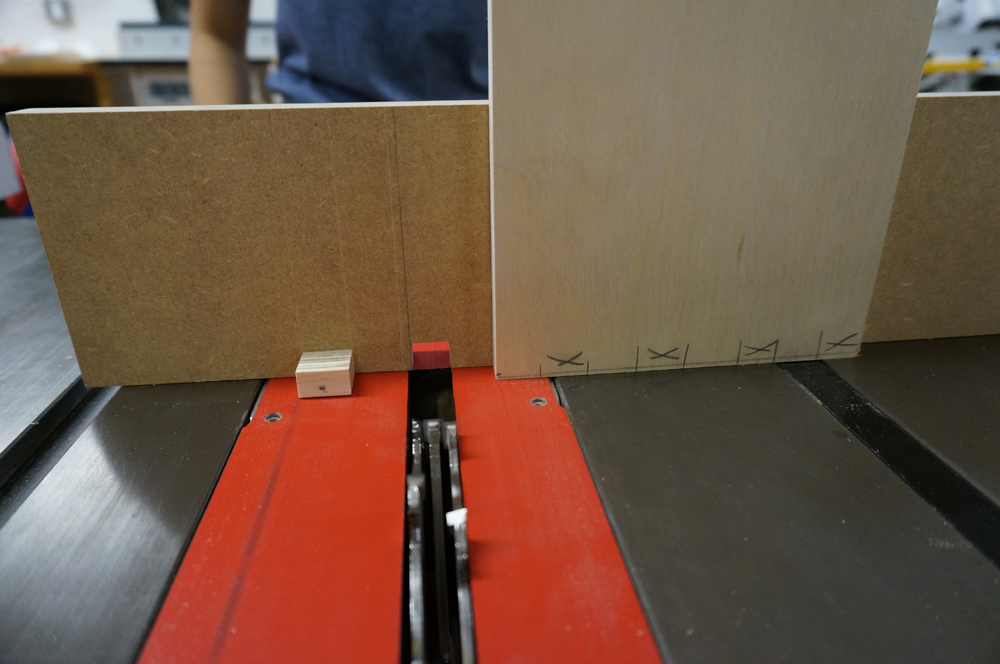 Front-view of the jig.