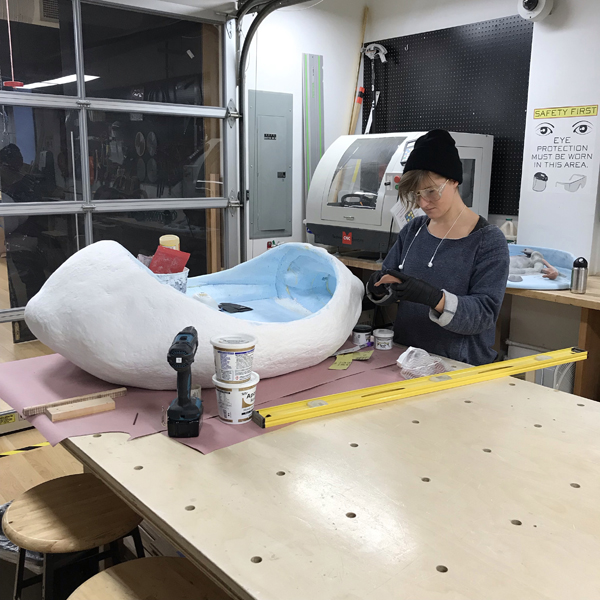 Gracelee is building 4 unique fountains out of 3D printed materials and foam.