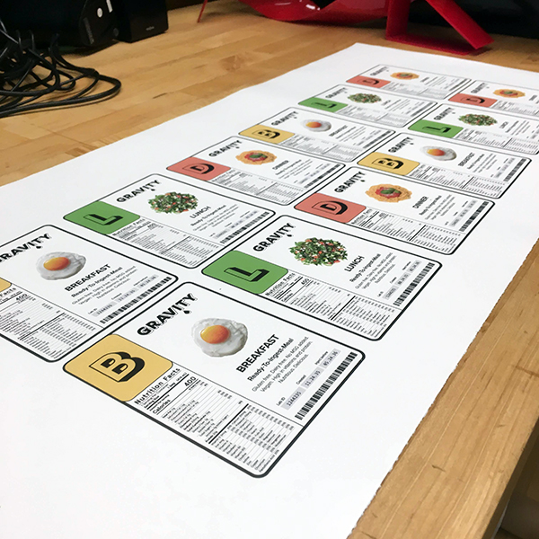 Gustav Ole Dyrhauge, a second-year student in the  MFA Products of Design  program is refining a prototype from his thesis by printing these beautifully-designed stickers.