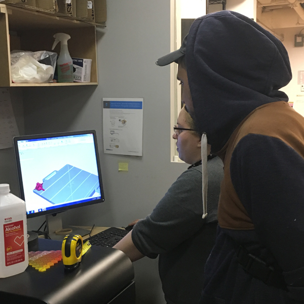 First-year  MFA Fine Arts  student Kosta Lales is using the Objet UV Photoresin 3D printer to generate a digitally composed sculpture derived from his photographic work.