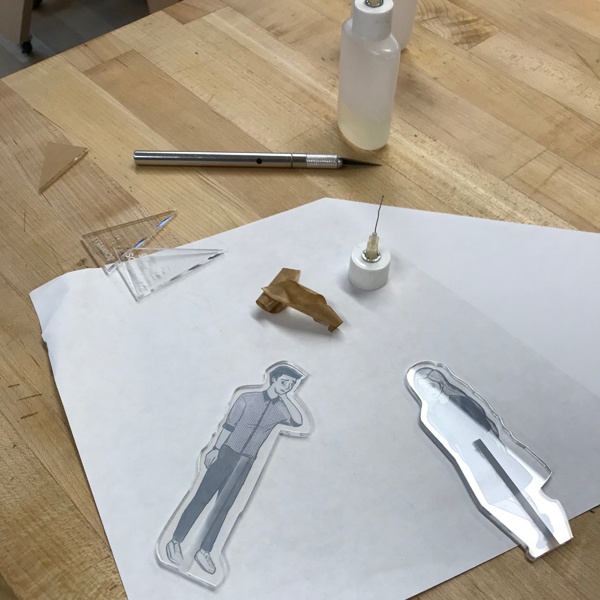 MFA Visual Narrative  student (and VFL student worker) ST Schwartz is hard at work perfecting her figure making skills.