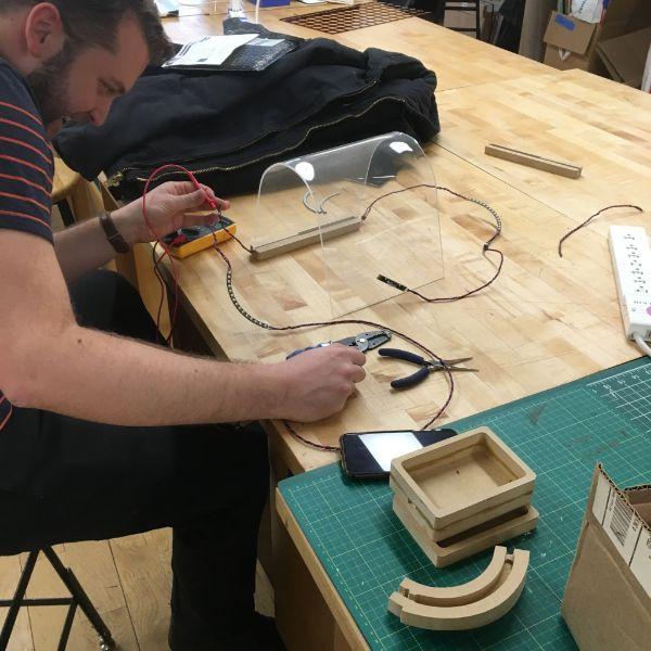 Did you know that SVA alumni can pay $500 to get full access to the VFL for the entire semester?   SVA Interaction Design  alum Sam is in the VFL today working on a wearable meditation device.