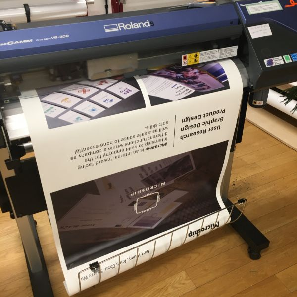 They are using the lightweight banner vinyl and fabricating a quick frame in the shop to create professional looking displays.