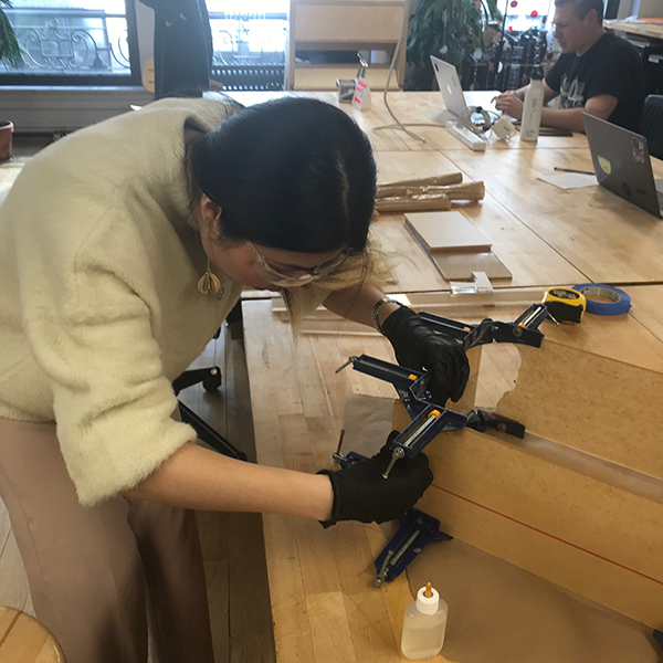 Erin (Yawen) Huang of  MFA Fine Arts  is taking advantage of the VFL's resources and materials to enhance her upcoming Open Studio.