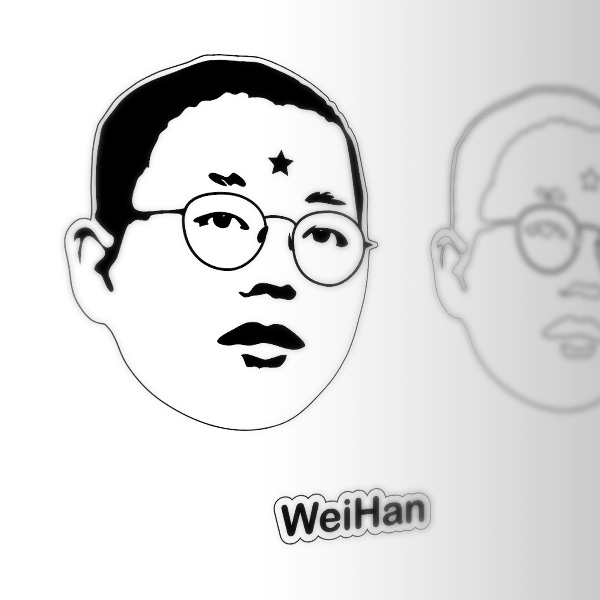 Today, Weihan - our newest student worker hailing from  MFA Photo, Video, and Related Media  - made a headshot without his camera.  In order to put his face sign on the on-duty board, Weihan used  Adobe Illustrator  to create his 'Abstract Portrait'. He then laser cut clear and black acrylic and glued them together while also hiding some well placed magnets.  He likes this selfie so much, he wants to make another soon for his fridge!