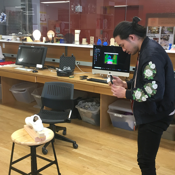 "This project will be part of Tzu-Ching's thesis work, the subject of which is regret, and in this particular project he is designing speculative objects to attach to shoes that will record, store, and share VR data so that the user can virtually ""take a walk in someone else's shoes""."
