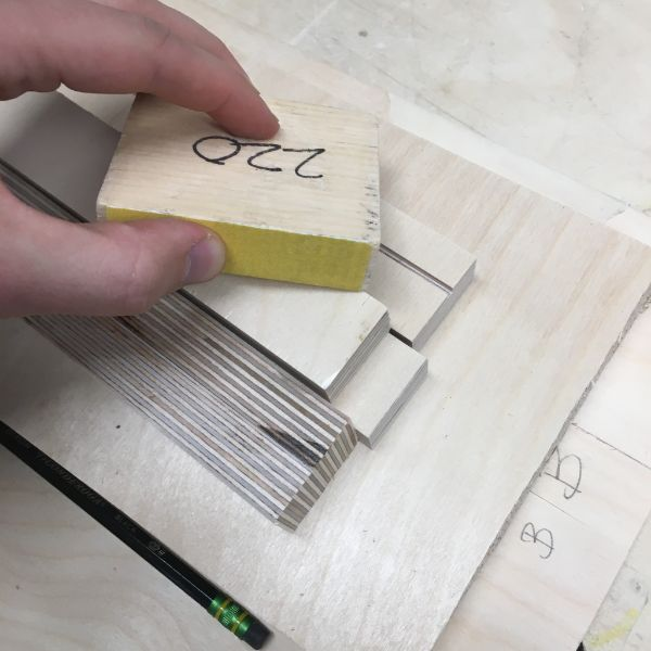 He also left some standard and miscellaneous sized blocks without any paper on them for anyone's specific sanding needs.