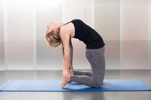 SEATED HEART OPENER (CAMEL POSE)