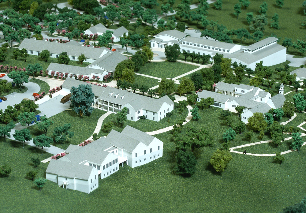 Master Plan Model Showing New Residential Buildings