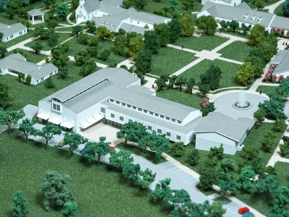 Master Plan Model Showing New Family Life Center