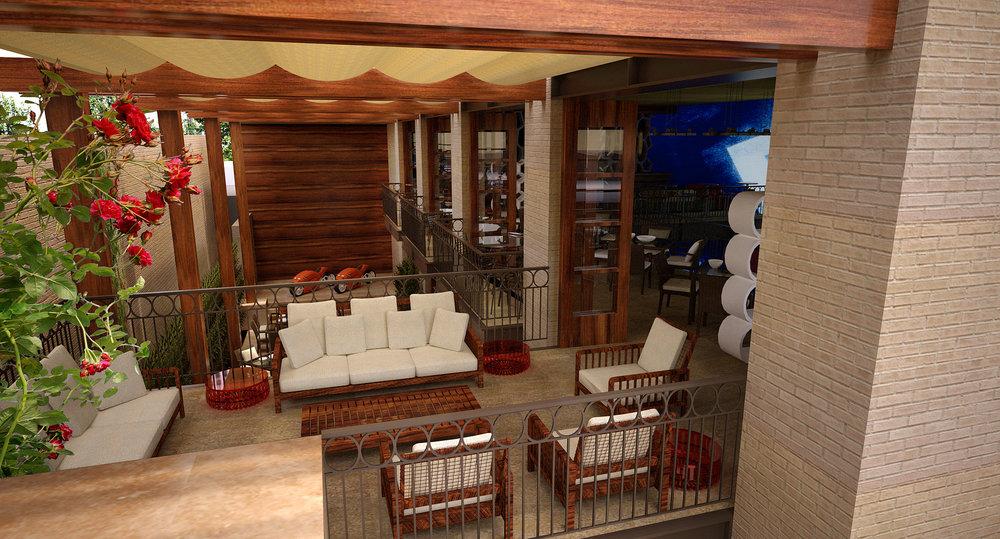 Side Courtyard Cafe Overlook