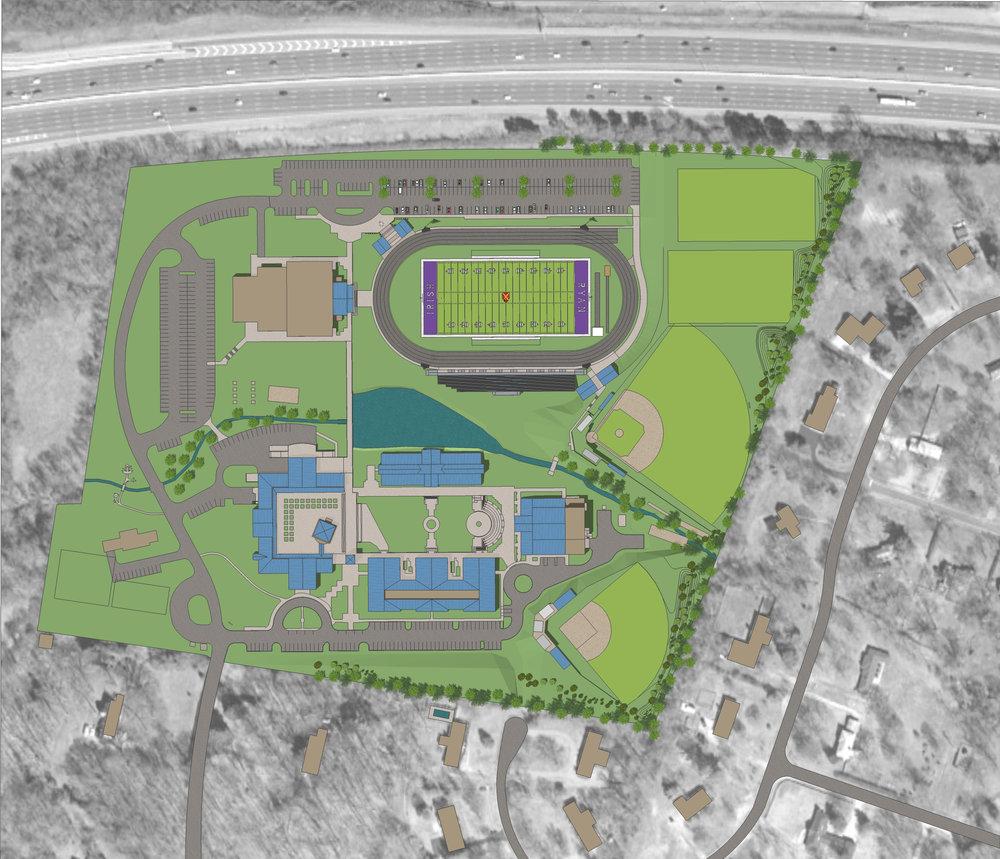 Father Ryan High School Sports Complex- Master Planning, Visualization, Fund Raising
