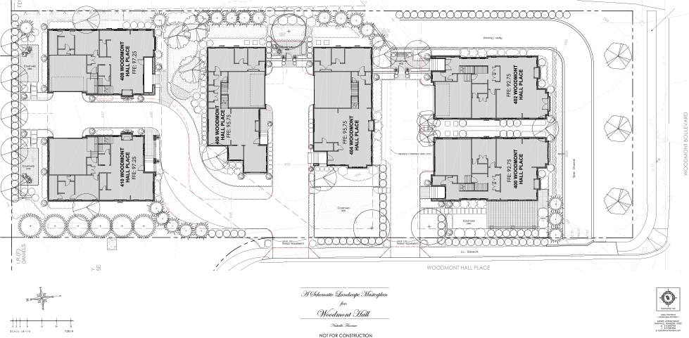 Woodmont Hall Place Specific Plan & Architectural Design 6 Single Family Residences