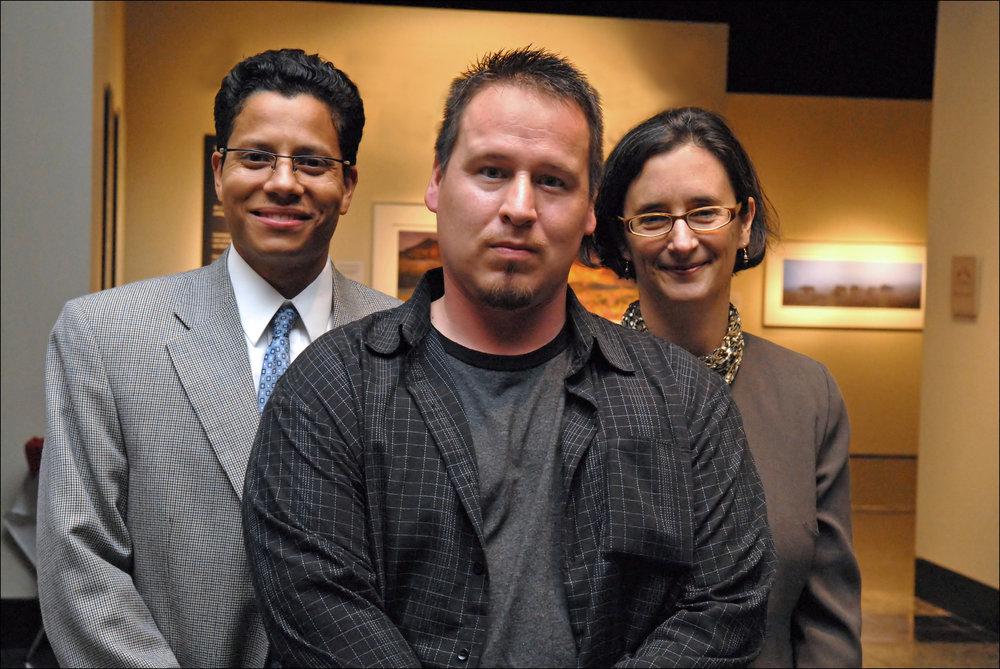 - (left to right) Felix Luna, Peterson Wampold Rosato Feldman Luna; Ted Bradford; Jackie McMurtrie, Innocence Project Northwest.