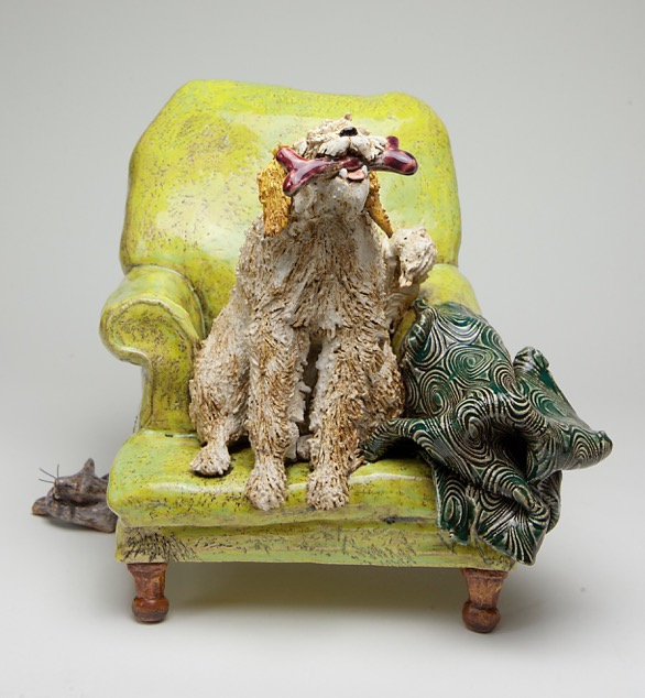 Kevin Irwin Ceramic dog& Chair.jpeg