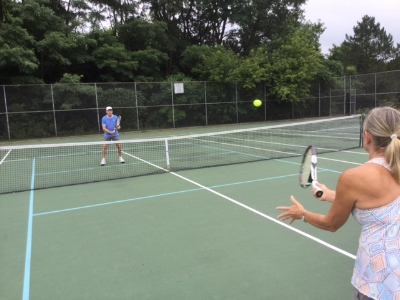 Peter Karofsky, and his wife, Kathy share a mutual passion for tennis.
