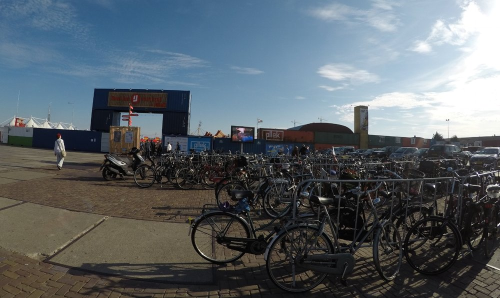 Hundreds of bikes at NDSM