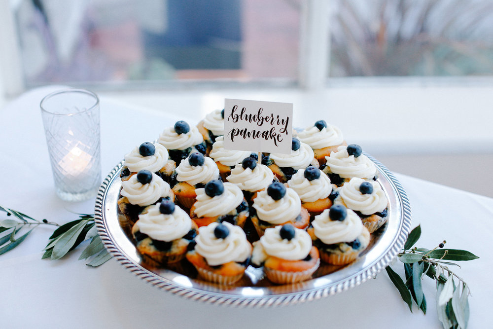 Cake: Blueberry Pancake. Blueberry Vanilla Cake with Maple Frosting Photo:  Julie Cahill Photography