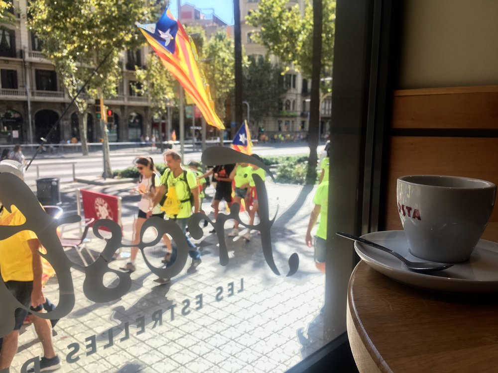 Interestingly enough, I'm writing this on Catalunya's independence day in Barcelona, Spain.