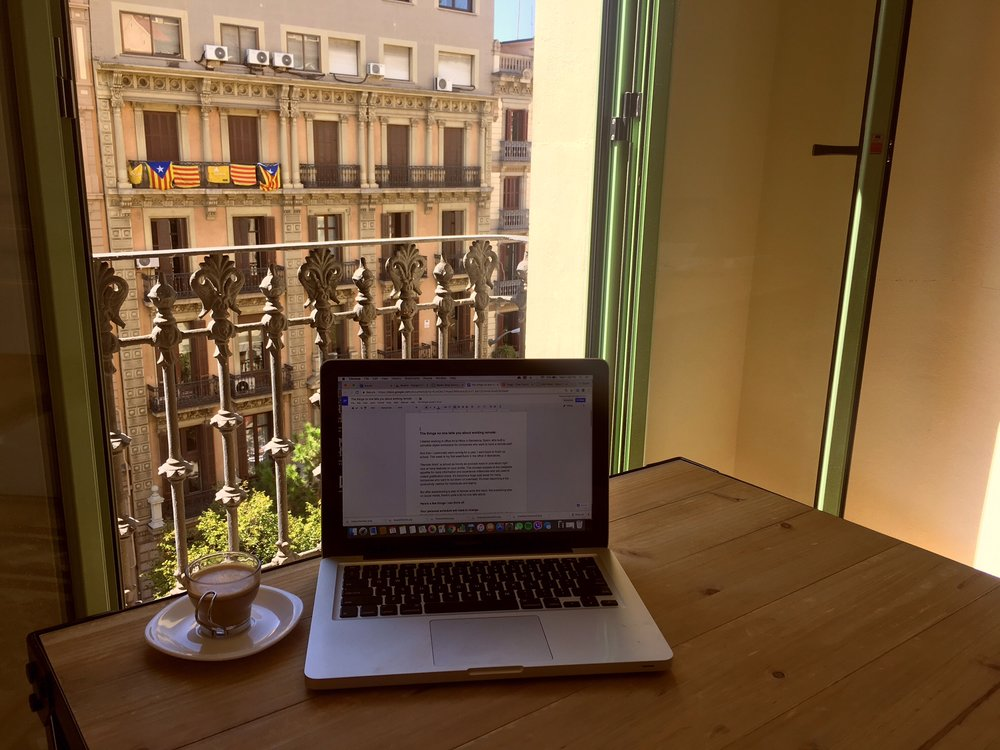 Writing from my office in Barcelona.