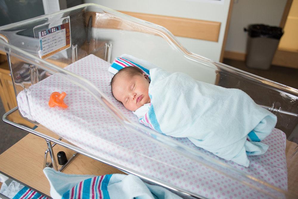Evalynn Doell, 9 days old, January 2015