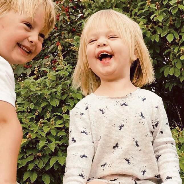 sister and brother laughing macgregor manitoba