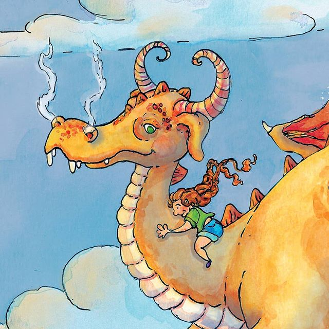 Sweet dreams everybody! I just finished these buds yesterday! . . #illustration #illustratorsofinstagram #editorialillustration #ink #watercolor #adobephotoshop #adobe #childrensbooks #childrensbookillustration #dragons #kidsbooks #kidlit #kidlitillustrator #bookstagram #scbwi #kidlitart
