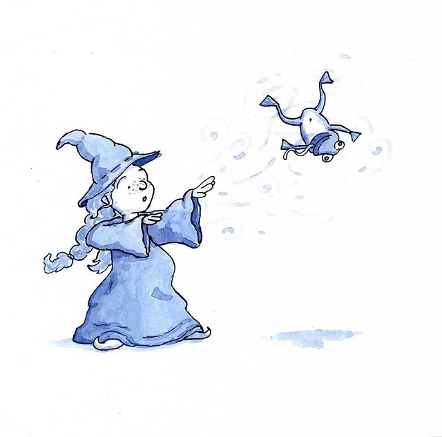 Inktober Day 4! Today's theme was spell, the frog didn't know what hit him. . . . #illustration #inktober #inktober2018 #illustrationartists #spell #witch #illustratorsofinstagram #editorialillustration #ink #girls #childrensbookillustration #childrensbooks #bookstagram #kidlitart #kidlit #kidlitillustrator #kidsbooks #scbwi