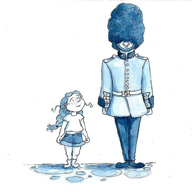 Inktober Day 13! A little late, but the theme was guard! . . .  #illustration #illustratorsofinstagram #inktober2018 #inktober #guard #ink #editorialillustration #childrensbooks #childrensbookillustration #bookstagram #scbwi #kidlitart #kidlit #kidlitillustrator #kidsbooks
