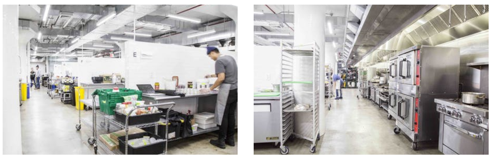 Kitchen facilities at Pilotworks, Brooklyn NY