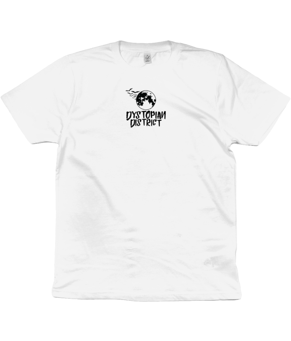 Black Moon Center Embroidered White T-Shirt.png